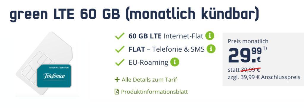60 GB Allnet Flat monatlich kündbar