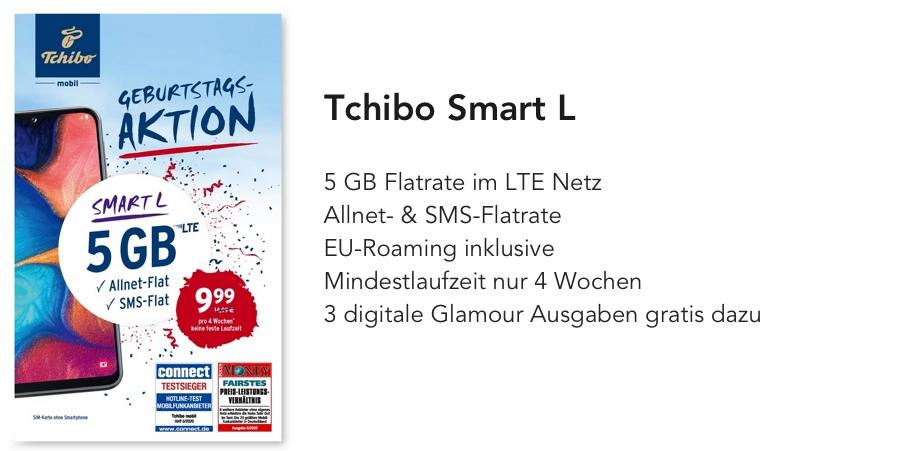 Tchibo Smart L Handytarif monatlich kündbar