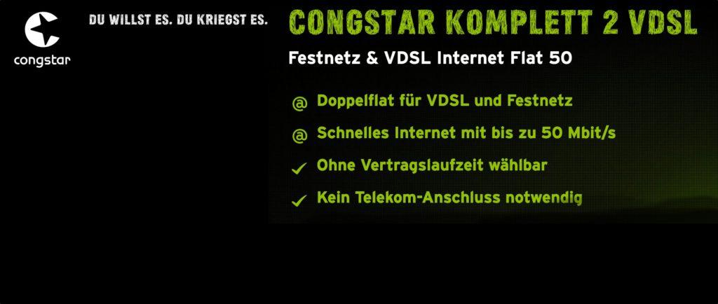 Congstar DSL Internet monatlich kündbar