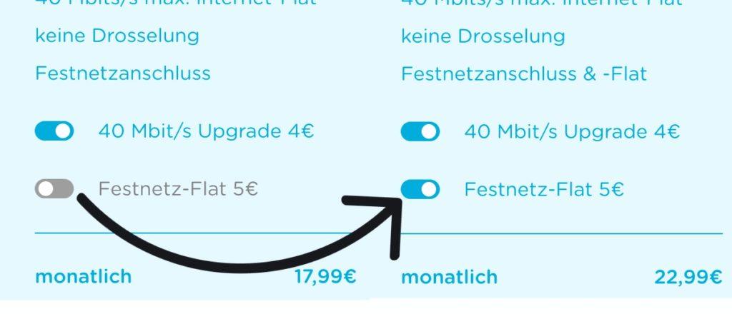 Telefon Flat abwählen DSL